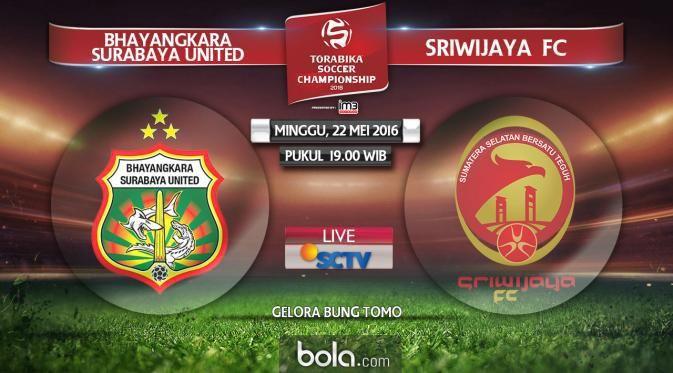 Beberapa Prediksi Bhayangkara Surabaya United vs Sriwijaya FC 22 Mei 2016