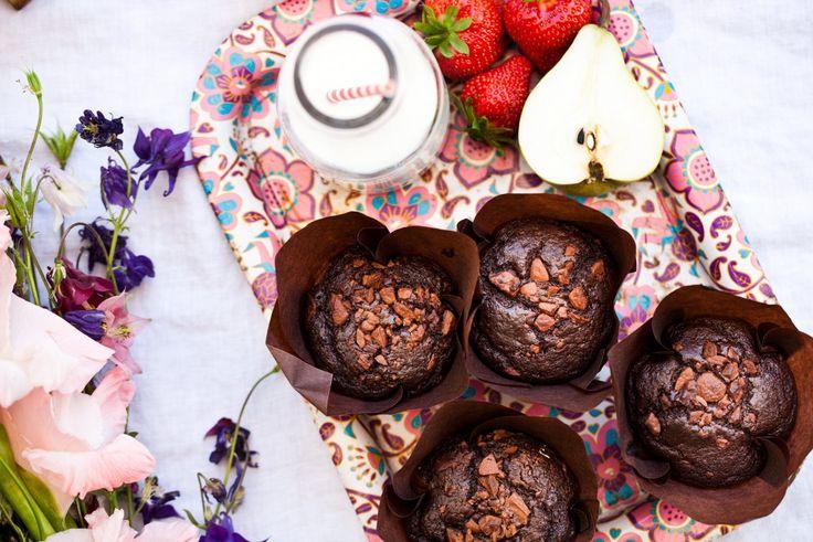 Celozrnné čokoládové muffiny   KITCHENETTE