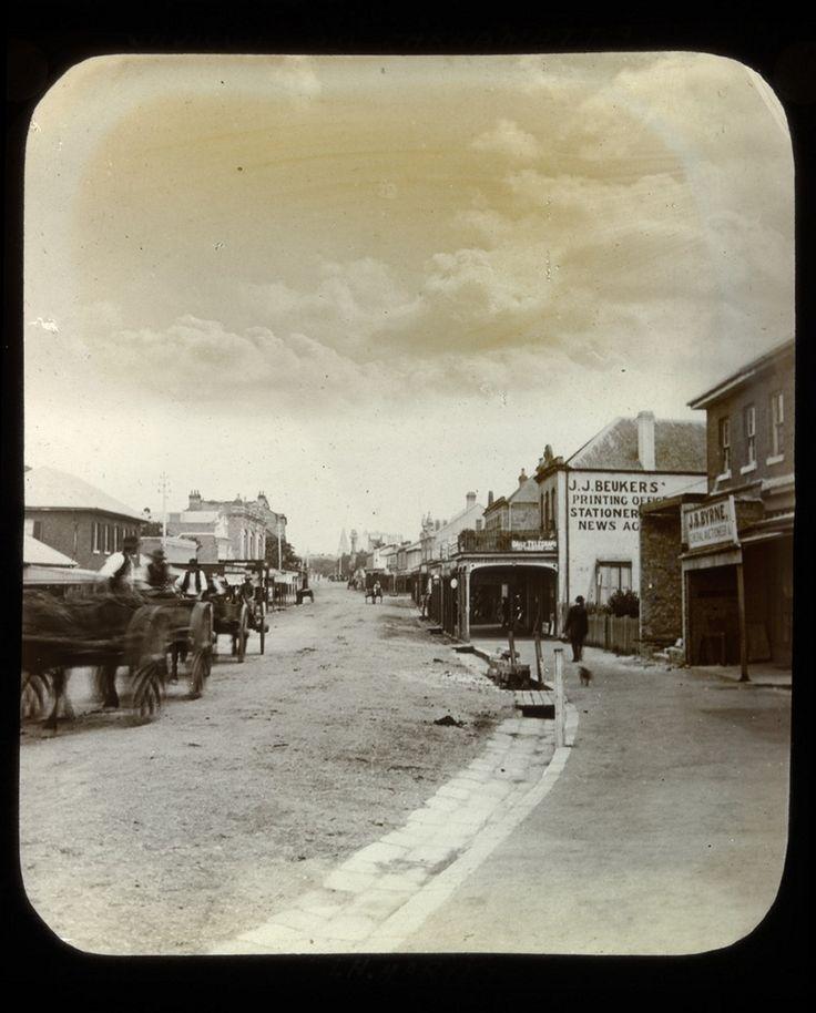 Church Street,Parramatta,in the western suburbs of Sydney in c1890.A♥W