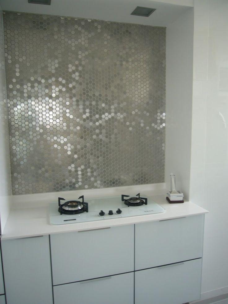 Backsplash Ideas For Kitchen To Protect The Kitchen Wall: Metallic Mirrored Tile  Backsplash ~ Kitchen Inspiration