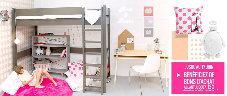 91 best chambre fille images on pinterest bedroom ideas. Black Bedroom Furniture Sets. Home Design Ideas