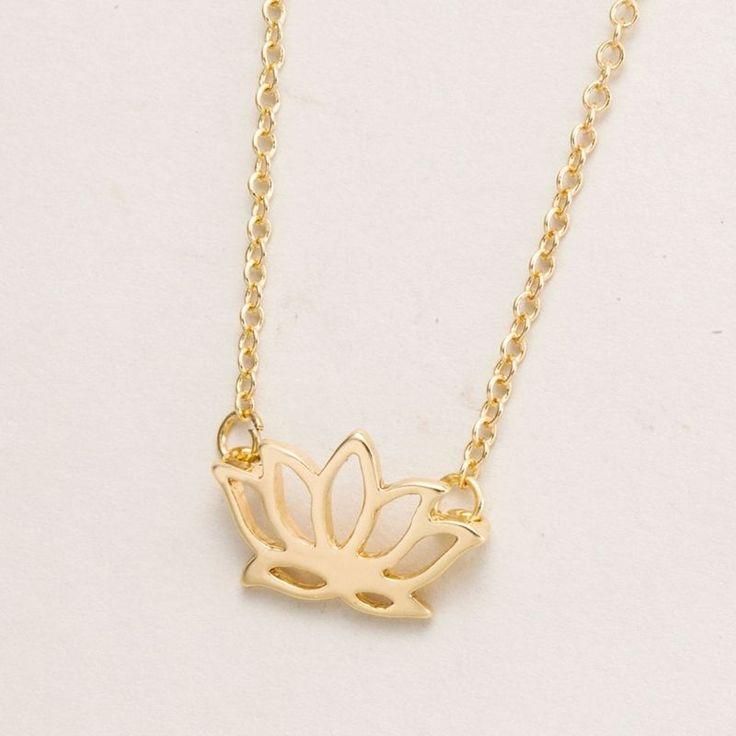 "marymoon Lotus Blüten Halskette ""Lotus"" Kette gold"