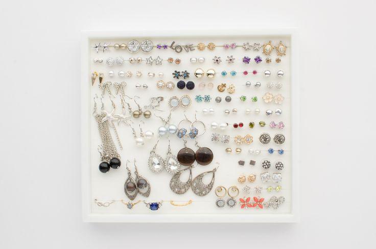 White Jewelry Tray - White Foam