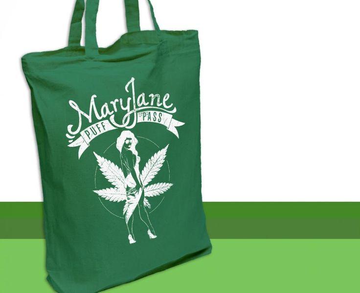 Bawełniana EKO torba na zakupy MARY JANE zielona