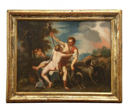 Venere e Adone Scuola Neoclassica