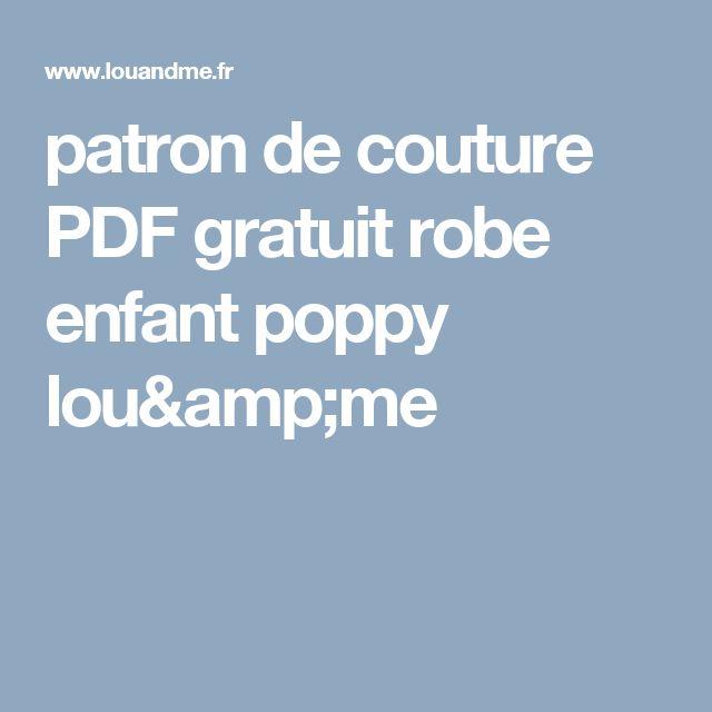 patron de couture PDF gratuit robe enfant poppy lou&me