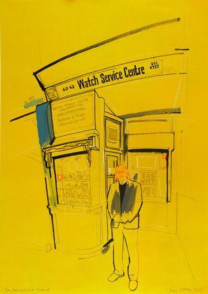John-Watch Service Centre by Lindon Hayes #illustrazione #disegno