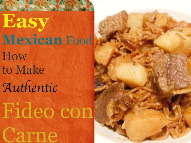 Fideo con carne y papas is a great family dish that tastes great and can feed 4-6 family members for under $10.  Includes instructions and photo tutorial.