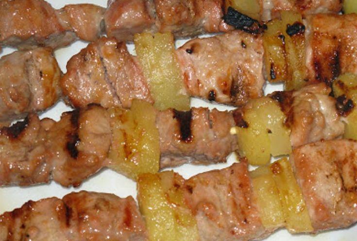 Recette : Brochettes de porc à l'érable.