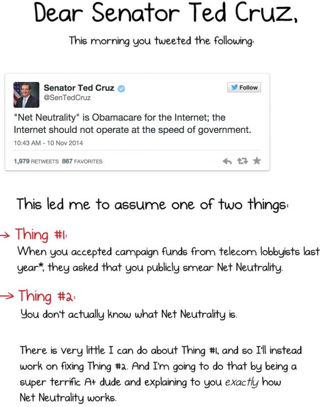 The Oatmeal completely dismantles Ted Cruz's Net Neutrality statement in hilarious cartoon