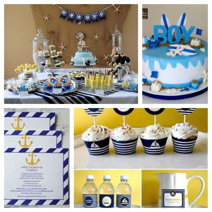 Nautical baby shower theme my children baby baby for Baby shower nautical decoration