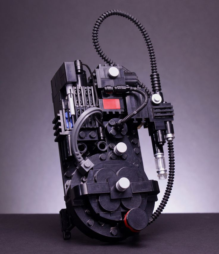 https://flic.kr/p/zcuUdX | Ghostbusters Proton Pack | It occurred to me (after I gave it away) that I never actually took a decent picture of my proton pack. So here it is. You can find instruction for this in BrickJournal issue 29.