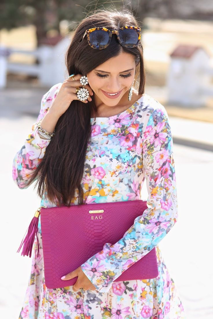 GiGi New York | The Sweetest Thing Blog | Magenta Uber Clutch