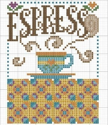 cross stitch pattern - perfect for all coffee lovers!
