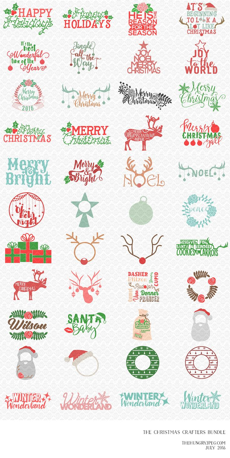 You asked for it, so here it is! The Crafters Christmas Bundle! Packed full of 44 fun and festive designs for only $14. All files are ready to cut and come with a full commercial license. So, get crafting! This pack will be be available for just one month, so grab your copy today before its gone for good.