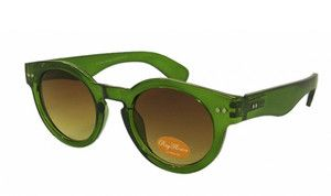 Green Thick Round Steampunk Dark Lens 50s Sunglasses Classic Vintage Retro 40s $15