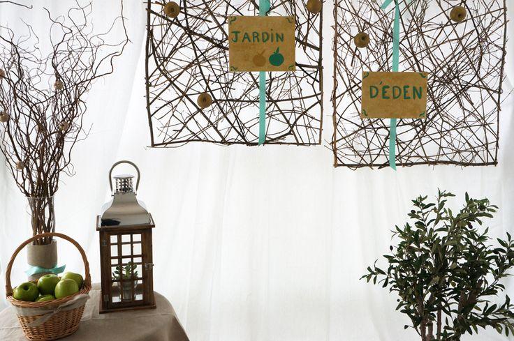 Photobooth - Eden Garden Wedding - Mariage Jardin d'Eden - Rustique chic - Menthe et Doré ) Design et Papeterie : Dessine-moi une étoile  - Compositions florales : Fée moi une fleur