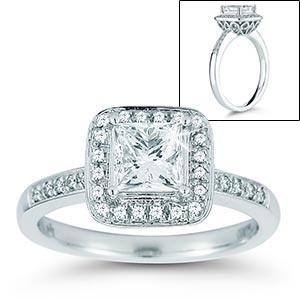 Princess Cut & Round Diamond Ring
