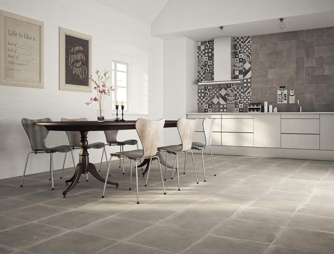 A collection able to give a fresh, extraordinarily natural twist to traditional floor and wall coverings.