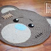 CROCHET PATTERN Classic Bear Rug Mat - via @Craftsy