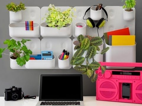 Bring the outdoors in; transform a blank wall into a living landscape with the Urbio vertical gardening system. http://www.dailygrommet.com/products/urbio-vertical-garden-storage