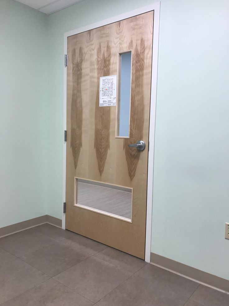 #This door at an emergency vet clinic has a window so pets can look out Repin and follow!