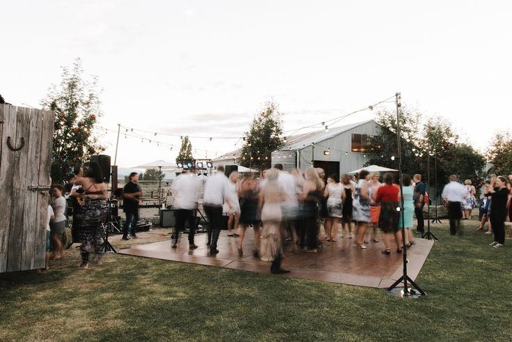 Nadia + Pete brought the dance floor outside. More of their AMAZING pics from MicImage at http://www.micimageweddings.co.nz/wedding-photographer/wanaka-weddings/nadia-pete/
