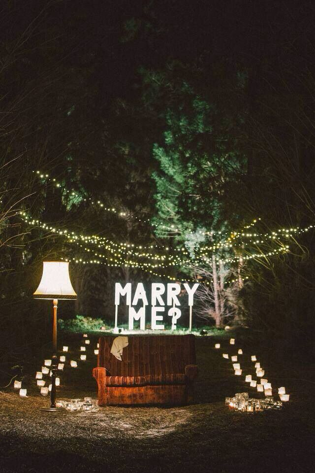 i just like the string and ground lights and trees. not into couch, lamp or big marry me sign.
