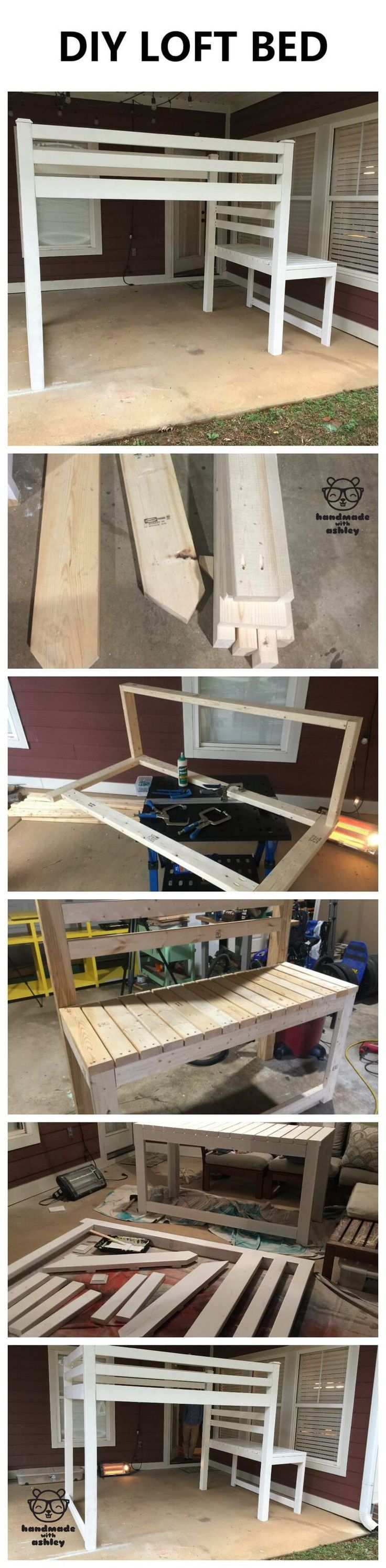 DIY Junior Loft Bed | Free Woodworking Plans by ANA WHITE