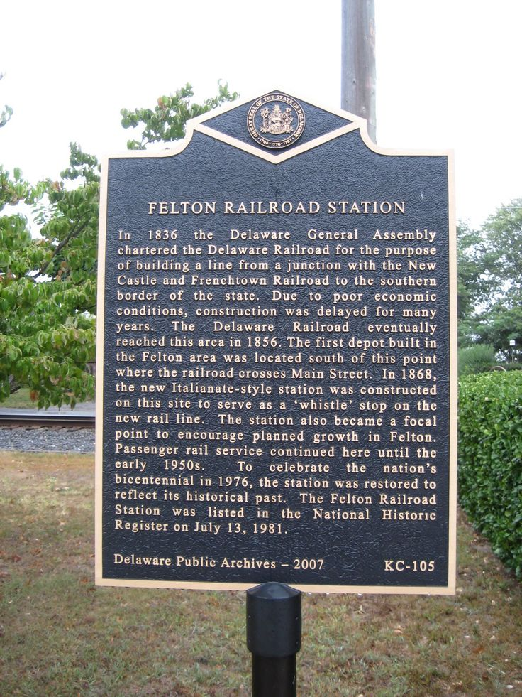 The railroad puts Felton on the map! Made by Healy Plaques find more information on www.healyplaques.com