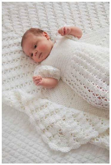 Princess Charlottes Christening Crochet Blanket ~ look for Christening gown on this board also ~ intermediate ~ FREE CROCHET pattern