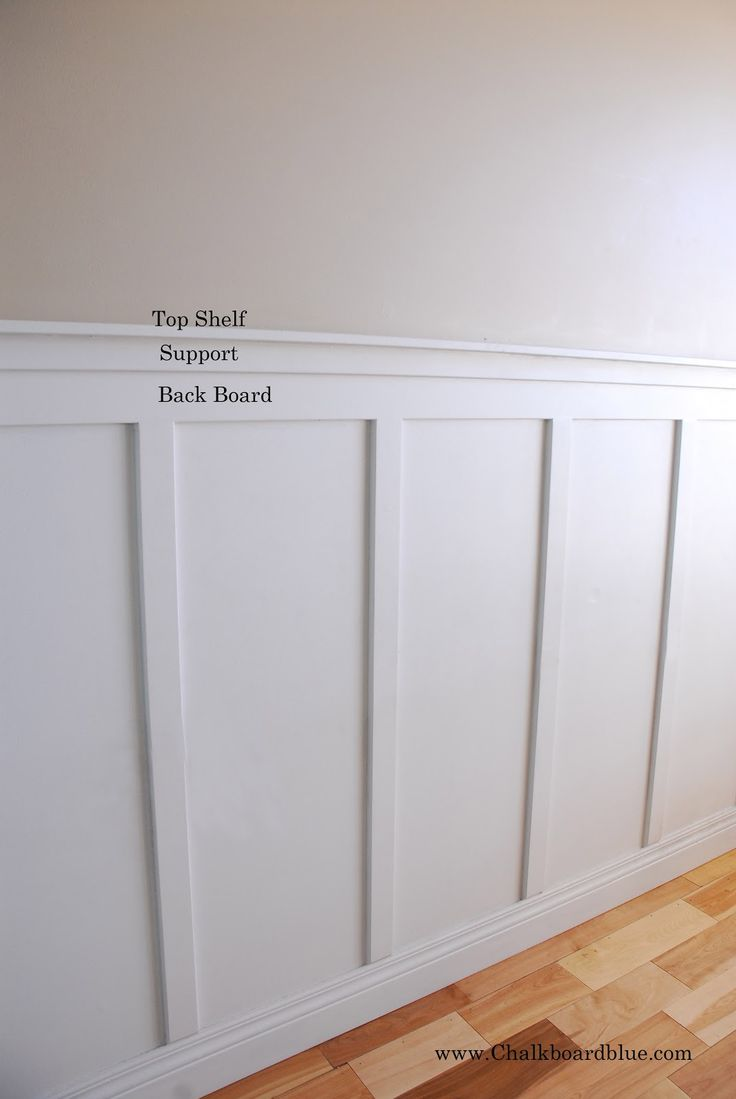 I Wanted To Share With You How I Did Board And Batten Trim On Our Wall Materials I Used Primed Mdf From Board And Batten Diy Wainscoting Wood Trim