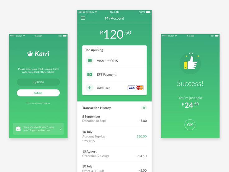 Mobile Payment App Design