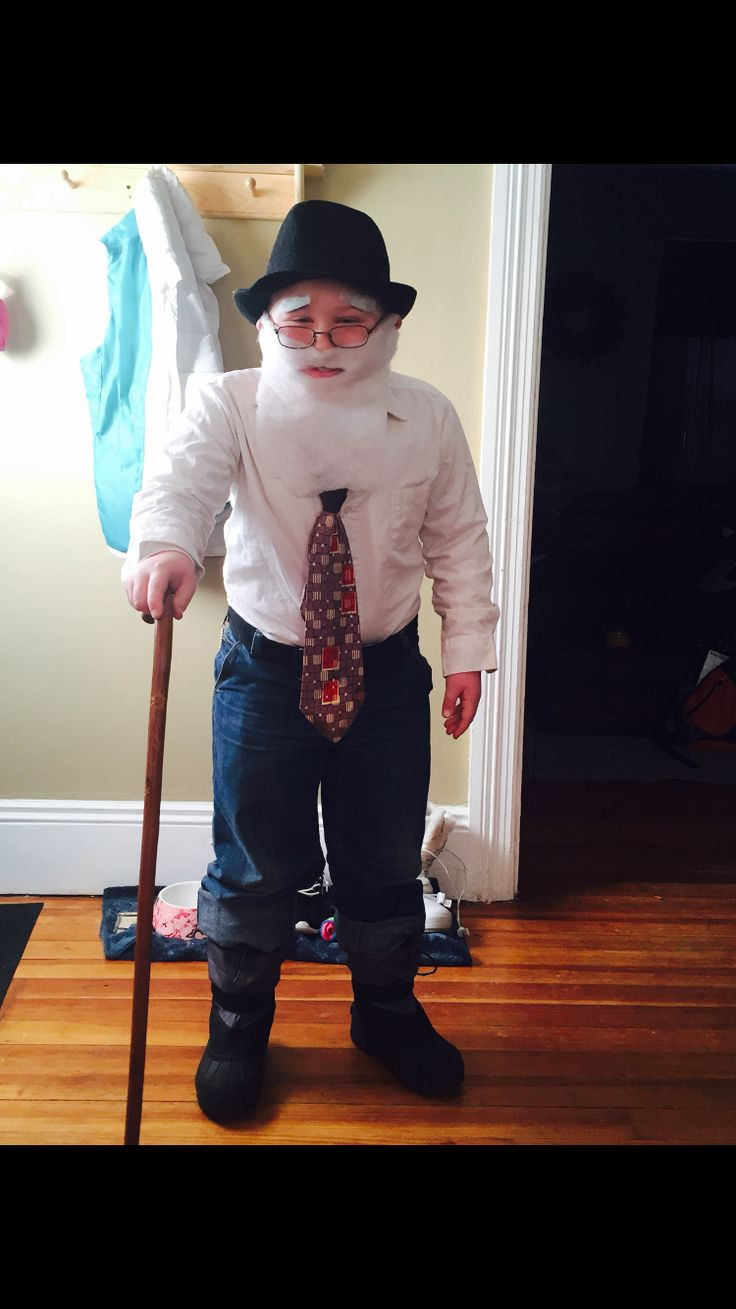 100 day of school 100 year old costume boy old man costume