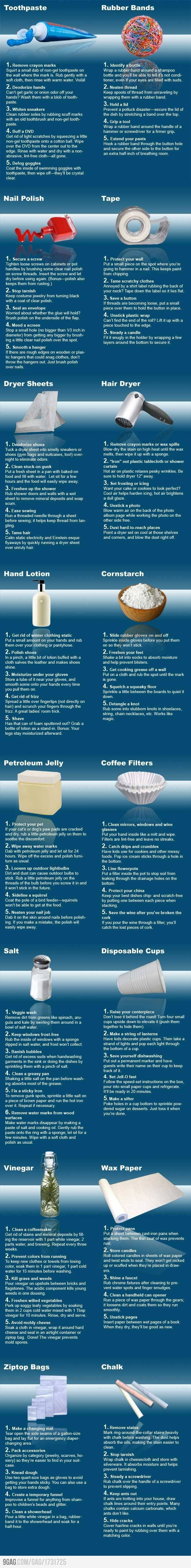 Very Useful Tips DIY Tips and Tricks for Petroleum Jelly Coffee Filters and many more items! Helpful Hints!