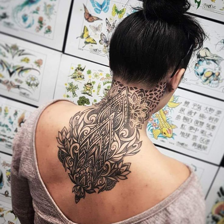 Body Mod | Nape tattoo | Ink | Tattoo | Neck Tattoo | Dotwork | Mandala |