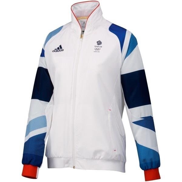 Adidas Team GB Replica Women's Training Jacket, White ❤ liked on Polyvore
