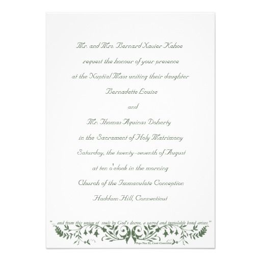 Free Electronic Wedding Invitations Templates: Catholic Wedding Set Invitation Template CC