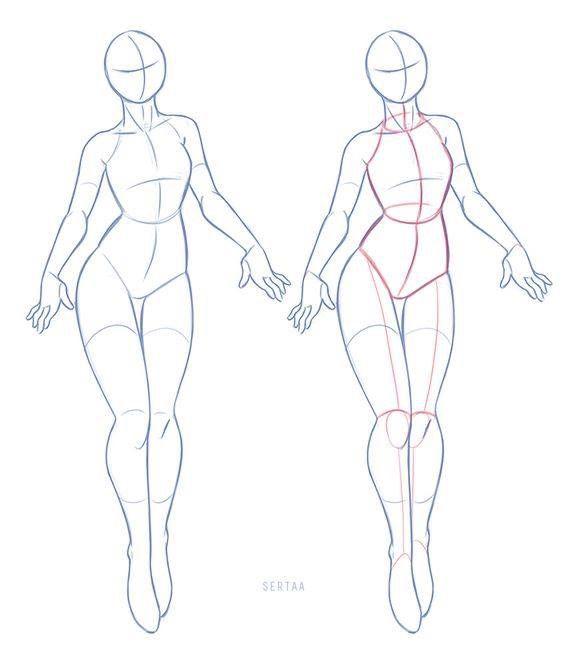 Картинки как рисовать тело женское
