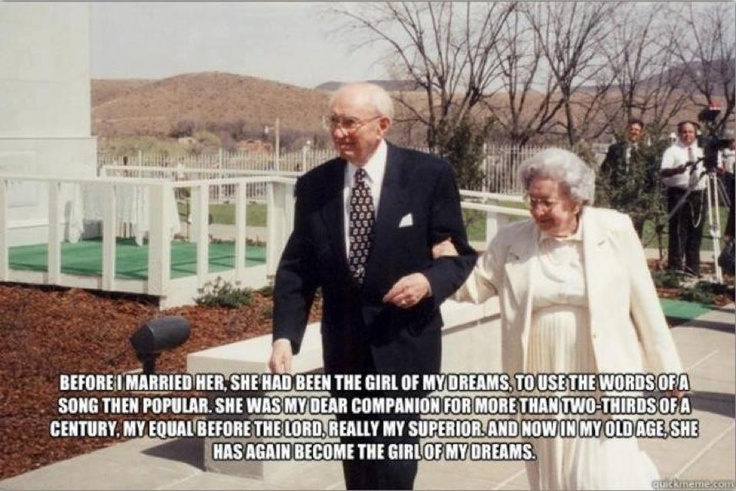 """girl of my dreams"" Gordon B. HinckleyOld Age, Gordon B Hinckley, Presidents Hinckley, Inspiration, True Romance, Dreams, Quotes, Old Couples, True Love"