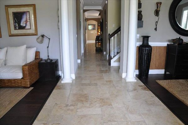 Travertine Tile Puts The Quot Tile Quot In Versatile Traditional