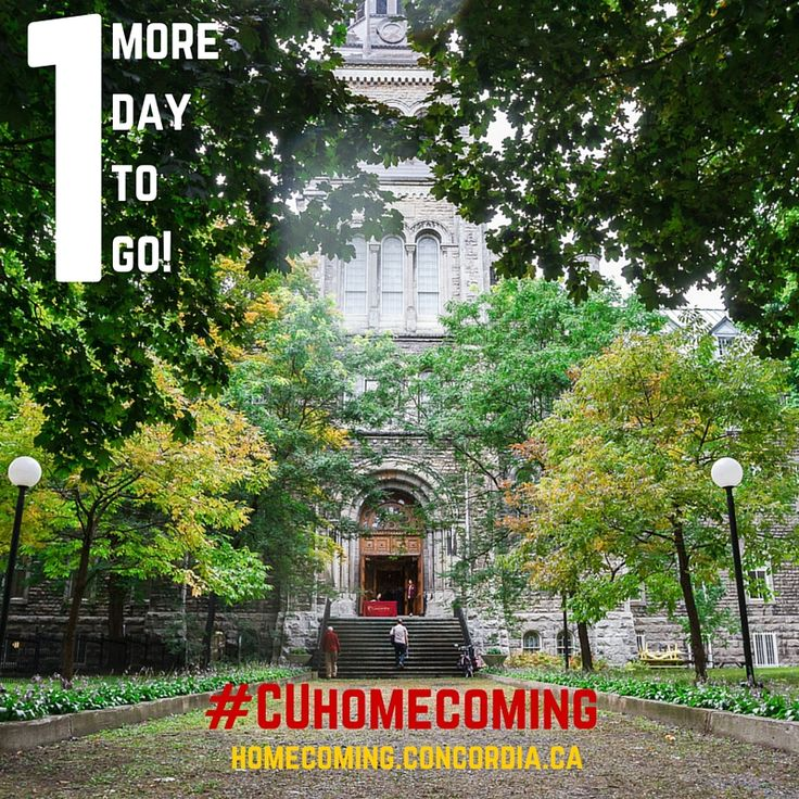 #CUhomecoming starts tomorrow and we're super excited to #CUalumni! #Concordia #Montreal