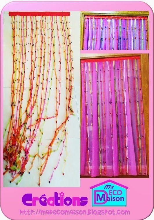 Créations Ma Déco Maison: Relooking pour des rideaux en tulle fuchsia