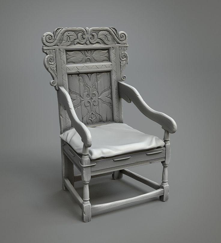 ArtStation - Medieval chair, Leonid Kuzyakin