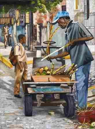 Jamaican Art :: Cane Man