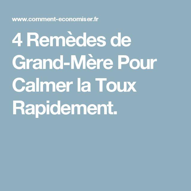 4 Remèdes de Grand-Mère Pour Calmer la Toux Rapidement.