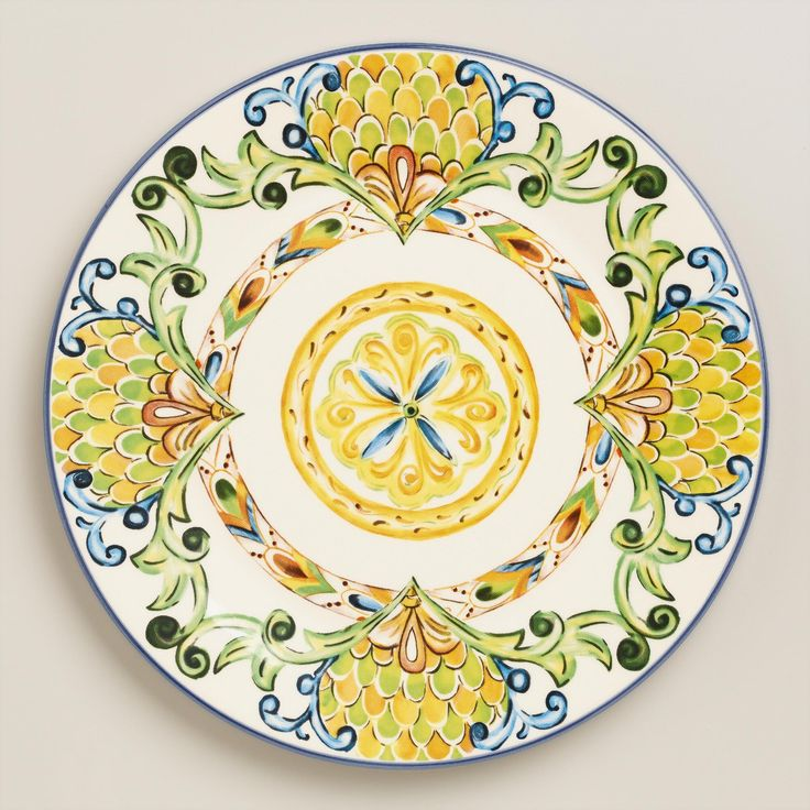 Crafted in Portugal our dinner plates feature beautifully detailed designs in green blue orange and yellow hues.  sc 1 st  Pinterest & 51 best Mexican Kitchen and Dining images on Pinterest | Mexican ...