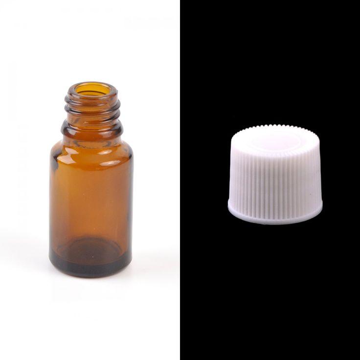Sklenená fľaška, liekovka, biely vrchnák, 50 ml