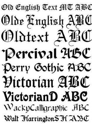 60+ Ideen für Tattoo-Schriften für Männer Old English