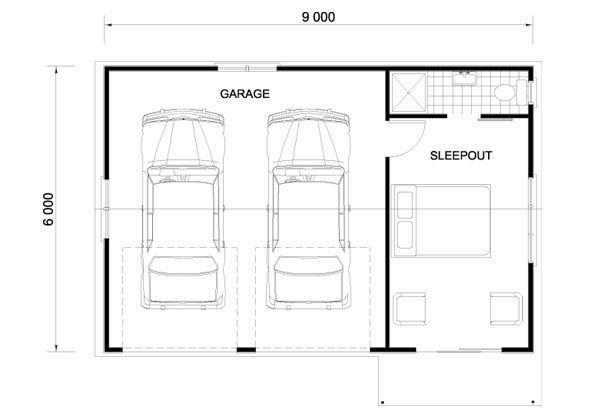 custom built garates sleepouts garage pinterest beautiful double garage and house. Black Bedroom Furniture Sets. Home Design Ideas